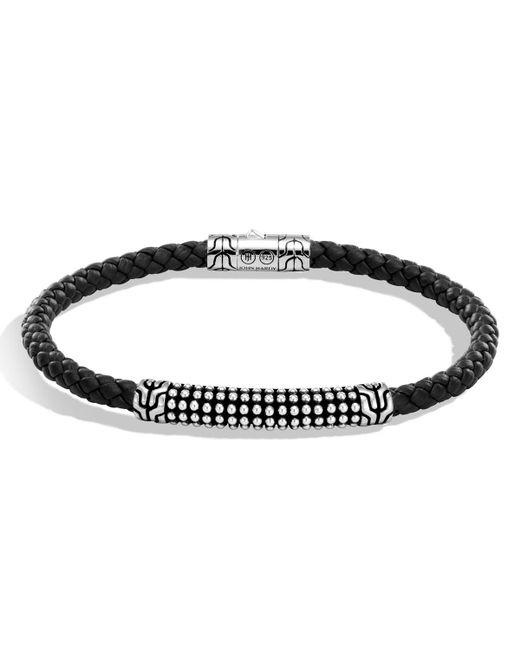 John Hardy - Metallic Men's Classic Chain Jawan Braided Leather & Sterling Silver Bracelet for Men - Lyst