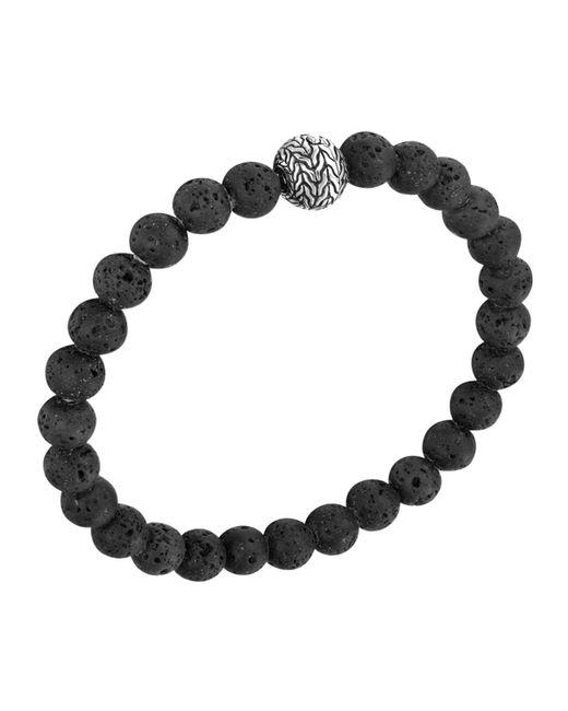 John Hardy - Black 'classic Chain' Beaded Bracelet for Men - Lyst