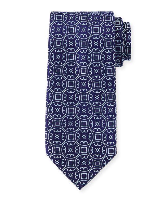 Charvet | Blue Large-medallion Silk Tie for Men | Lyst