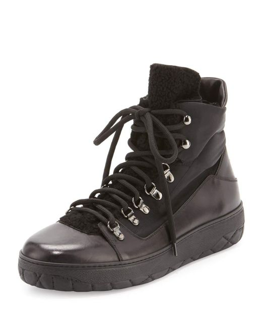 Moncler | Black Winter Shearling-tongue Boot for Men | Lyst