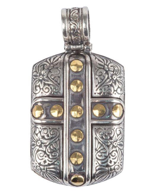 Konstantino - Metallic Men's Sterling Silver & 18k Gold Cross Pendant for Men - Lyst