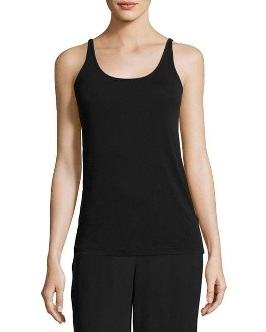 Eileen Fisher - Black Silk Jersey Long Slim Camisole - Lyst