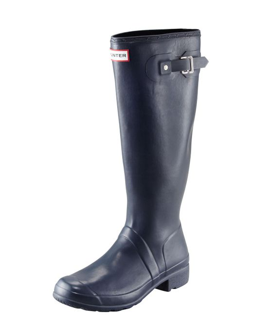 Hunter - Blue Original Tour Buckled Welly Boot - Lyst