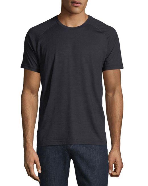 Z Zegna - Blue Techmerino Jersey Short-sleeve T-shirt for Men - Lyst
