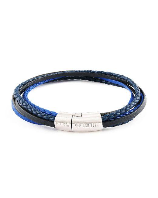 Tateossian | Blue Men's Multi-strand Leather Cobra Bracelet for Men | Lyst