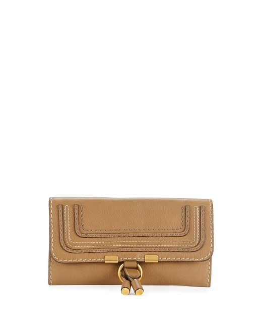 Chloé - Marcie Continental Flap Wallet Brown - Lyst