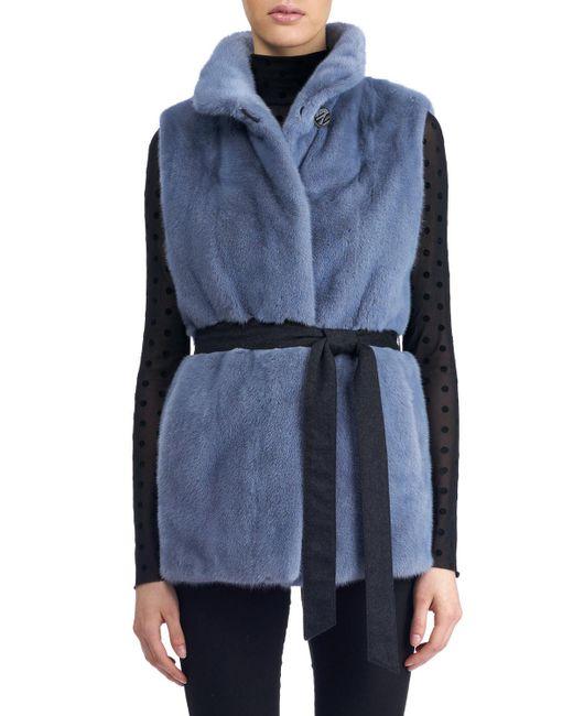 Gorski - Blue Reversible Mink Fur Vest - Lyst