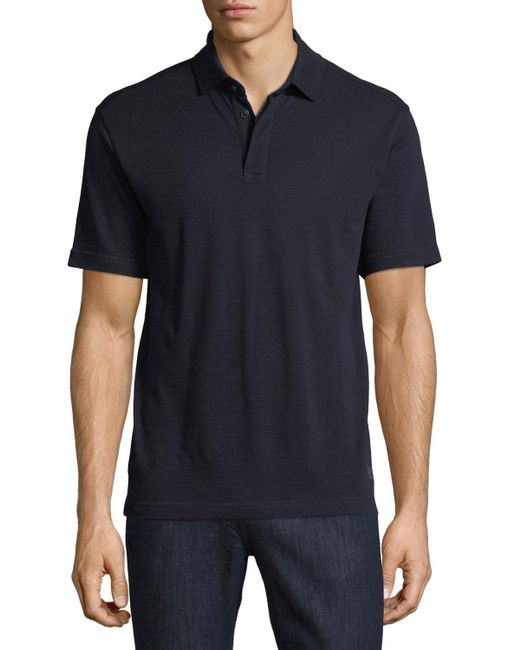 Z Zegna | Blue Techmerino Wool Polo Shirt for Men | Lyst