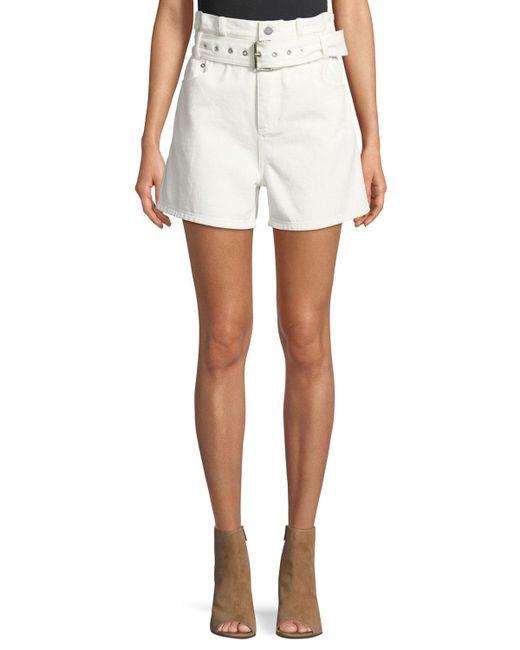 3.1 Phillip Lim - White Belted Denim Shorts - Lyst