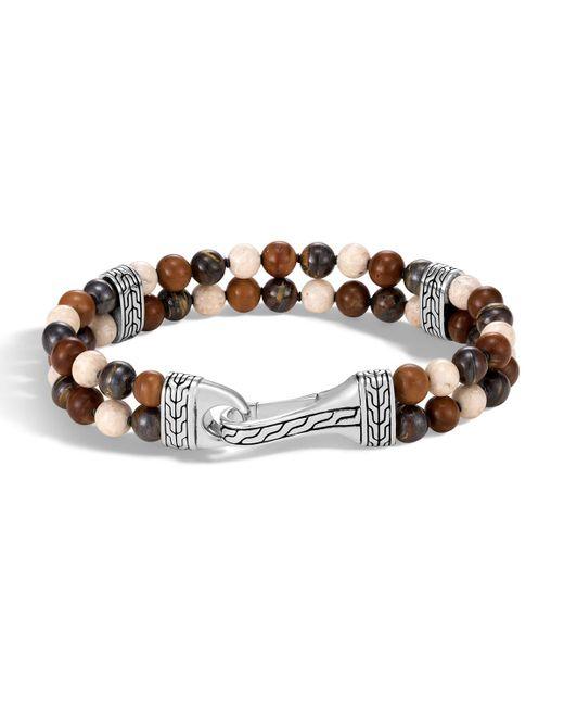 John Hardy - Metallic Beaded Silver Bracelet for Men - Lyst
