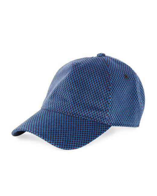 Rag & Bone - Blue Marilyn Dot-print Baseball Cap for Men - Lyst