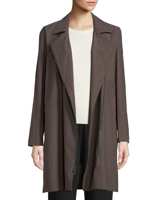 Eileen Fisher - Multicolor Washable Stretch Crepe Moto Jacket - Lyst