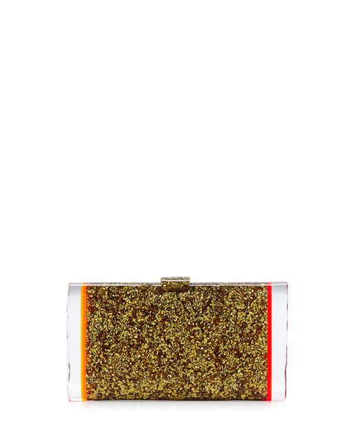 Edie Parker - Metallic Lara Backlit Acrylic Clutch Bag - Lyst