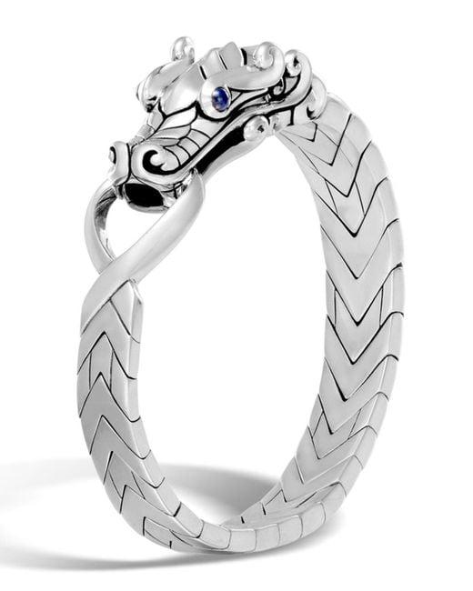John Hardy - Metallic Men's Legends Naga Dragon Sterling Silver Chain Bracelet for Men - Lyst