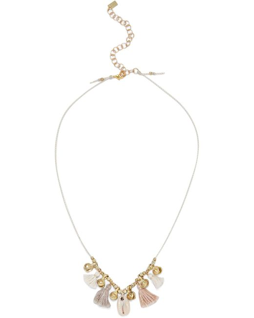 Chan Luu | Metallic Tasseled Gold-tone And Shell Necklace | Lyst