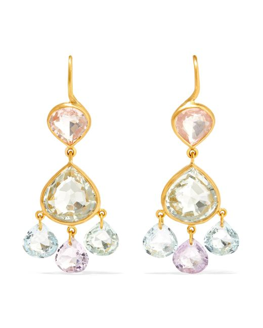 Marie-hélène De Taillac | Metallic 18-karat Gold Multi-stone Earrings | Lyst