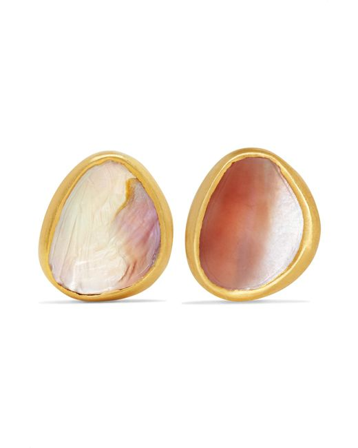 Pippa Small - Metallic 18-karat Gold Shell Earrings - Lyst