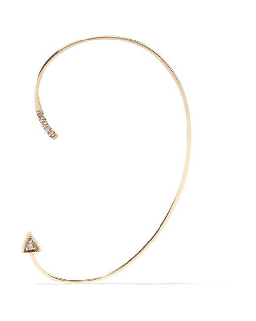 Jennie Kwon - Metallic Mini Dagger 14-karat Gold Diamond Ear Cuff - Lyst