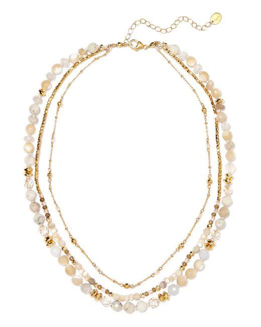 Chan Luu - Metallic Layered Gold-tone Stone Necklace - Lyst