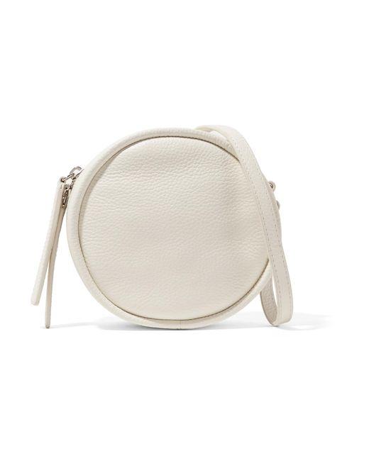 Kara - White Cd Textured-leather Shoulder Bag - Lyst