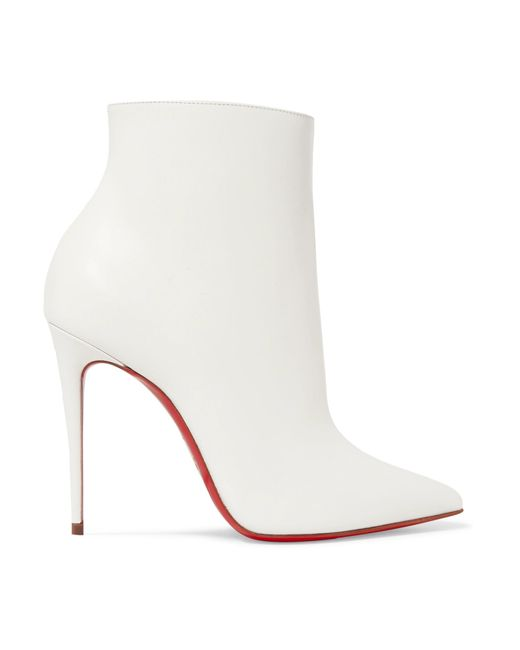 Christian Louboutin - White So Kate 100 Leather Ankle Boots - Lyst
