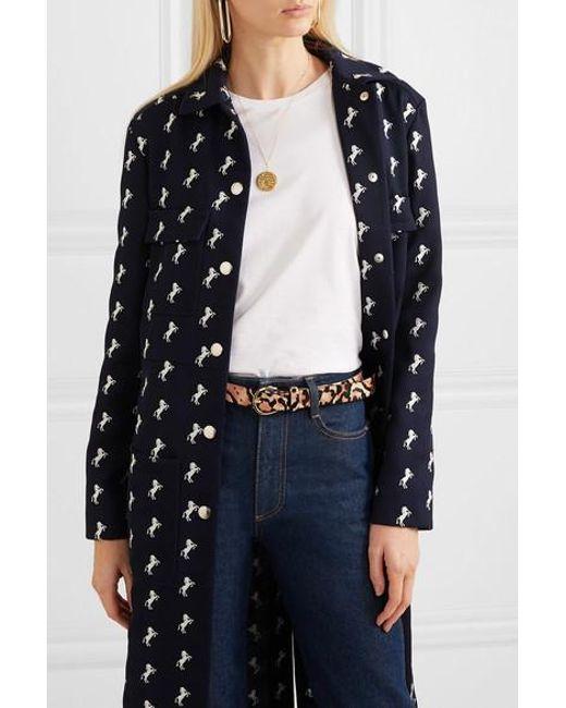 59d4a4038e35 ... FRAME - Multicolor Leopard-print Calf Hair Belt - Lyst ...