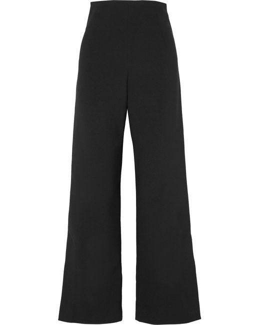 Solace London - Black Dafina Bonded Wide-leg Pants - Lyst