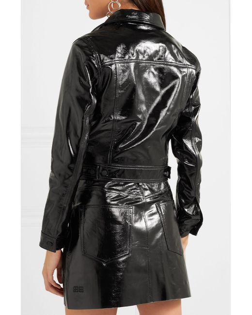 Jacket Black A2b Textured in Patent leather Ksubi Lyst qzOSTwn