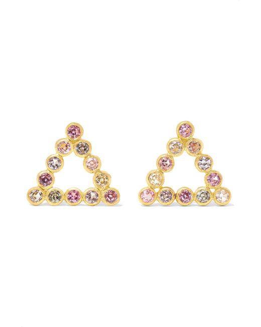 Marie-hélène De Taillac - Metallic Bollywood 22-karat Gold Sapphire Earrings - Lyst