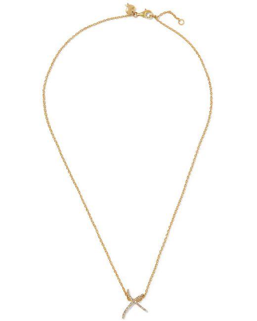 Stephen Webster - Metallic + Tracey Emin Kiss 18-karat Gold Diamond Necklace - Lyst