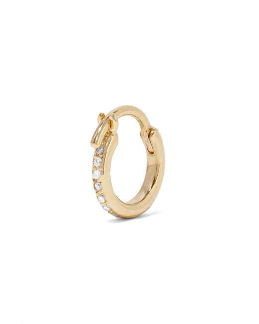Ileana Makri 18-karat Gold Diamond Hoop Earrings uNFB0m1