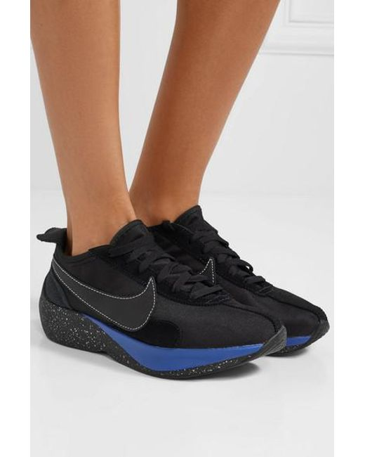 7a40b096cf5 ... Nike - Black Moon Racer Qs Canvas, Leather And Suede Sneakers - Lyst ...