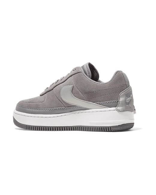 1afe1688f646ac ... Nike - Gray Air Force 1 Jester Suede Sneakers - Lyst ...