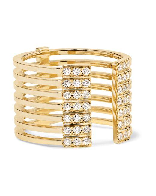 Melissa Kaye - Metallic Izzy 18-karat Gold Diamond Ring Gold 7 - Lyst
