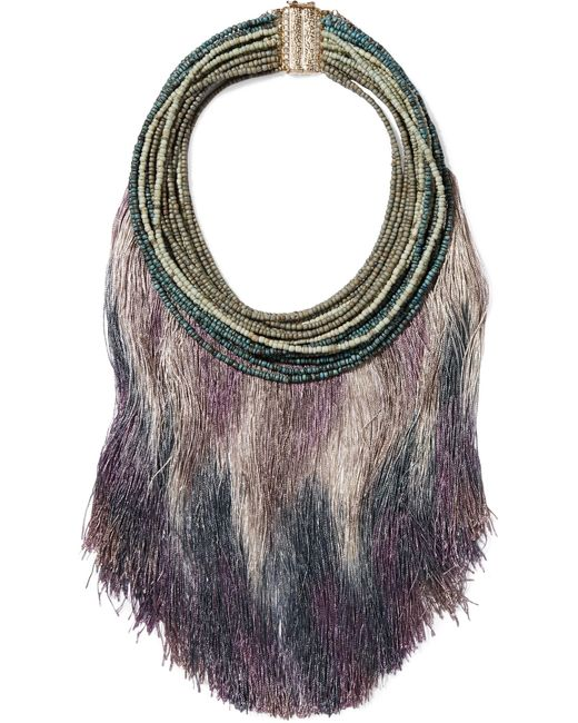 Rosantica | Purple Havana Tasseled Beaded Necklace | Lyst