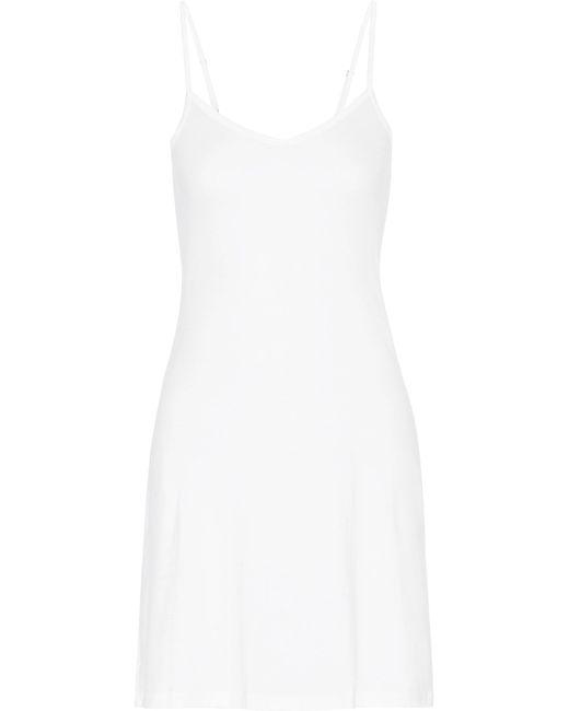 Hanro | White Ultralight Mercerized Cotton Slip | Lyst