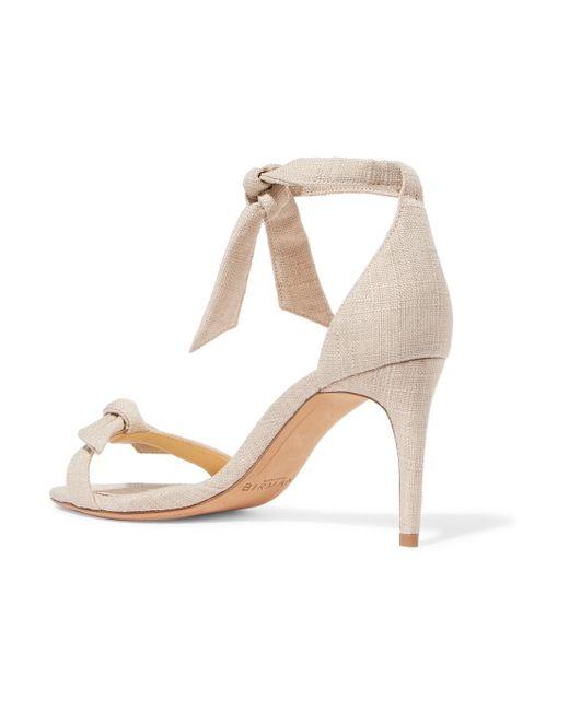 Clarita Bow-embellished Linen Sandals - Ecru Alexandre Birman 0EkdtA0