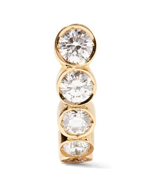 Sophie Bille Brahe - Metallic Petite Boucle 18-karat Gold Diamond Earring - Lyst