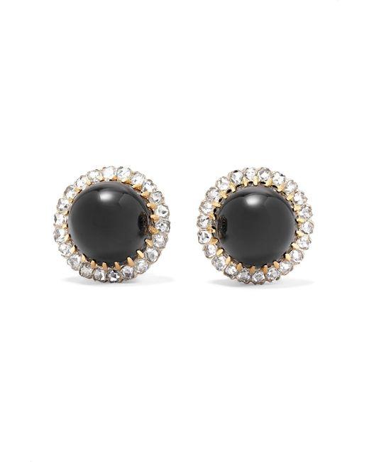 Fred Leighton - Metallic 18-karat Gold, Platinum, Diamond And Onyx Clip Earrings - Lyst