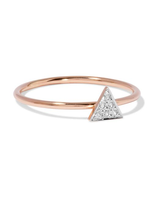 I+i - Metallic 14-karat Rose Gold Diamond Ring - Lyst