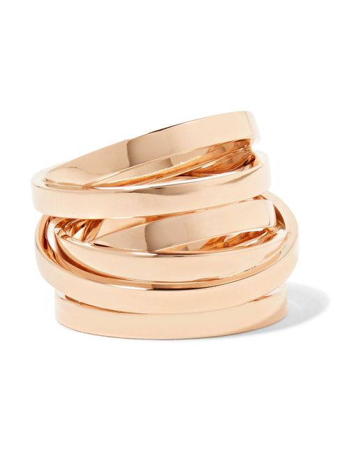 Repossi | Metallic Technical Berbère 18-karat Rose Gold Ring | Lyst