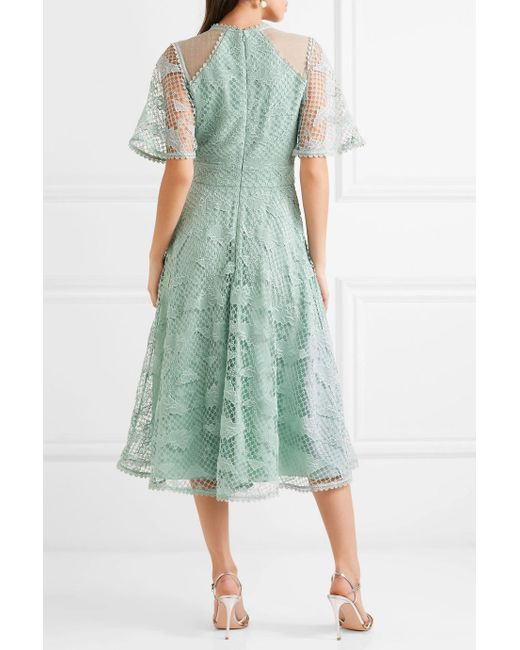 Haze Guipure Lace And Tulle Dress - Mint Temperley London rhR8Tj