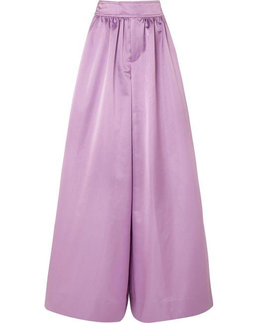 J.Crew - Purple Kent Duchesse-satin Wide-leg Pants - Lyst