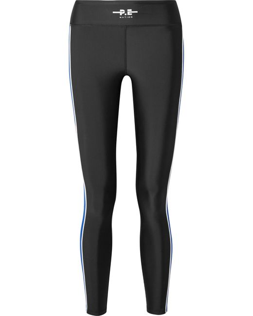 P.E Nation - Black The Touchback Printed Stretch Leggings - Lyst