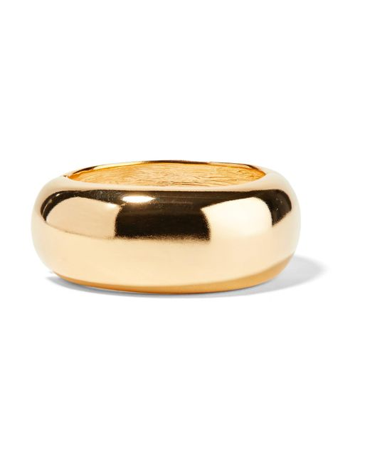 Kenneth Jay Lane | Metallic Gold-plated Bangle | Lyst