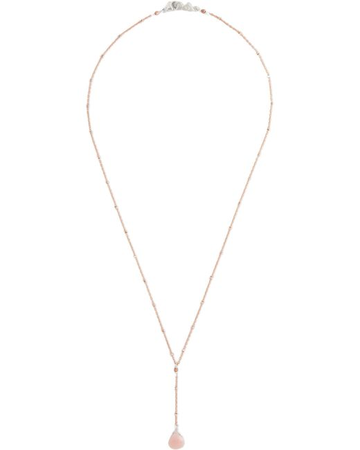 Chan Luu - Metallic Rose Gold-plated, Silver-tone And Opal Necklace - Lyst