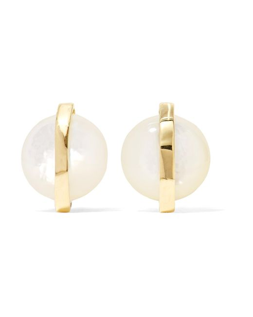 Ippolita | Metallic Senso 18-karat Gold Mother-of-pearl Earrings | Lyst