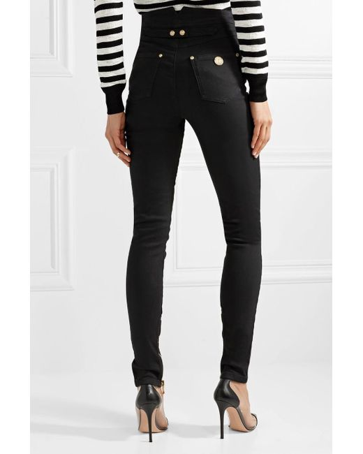 Button-embellished High-rise Skinny Jeans - White Balmain Free Shipping With Credit Card Sale Browse Clearance Countdown Package Clearance Good Selling Sale Outlet mIeuF52dgW