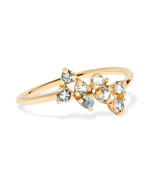 Wwake - Metallic Bias 14-karat Gold Sapphire Ring - Lyst