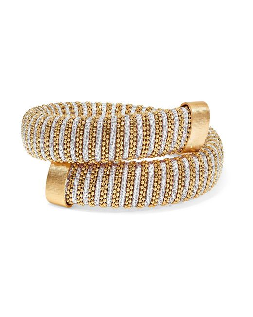 Carolina Bucci - Caro Gold-plated And Metallic Cotton Bracelet - Lyst
